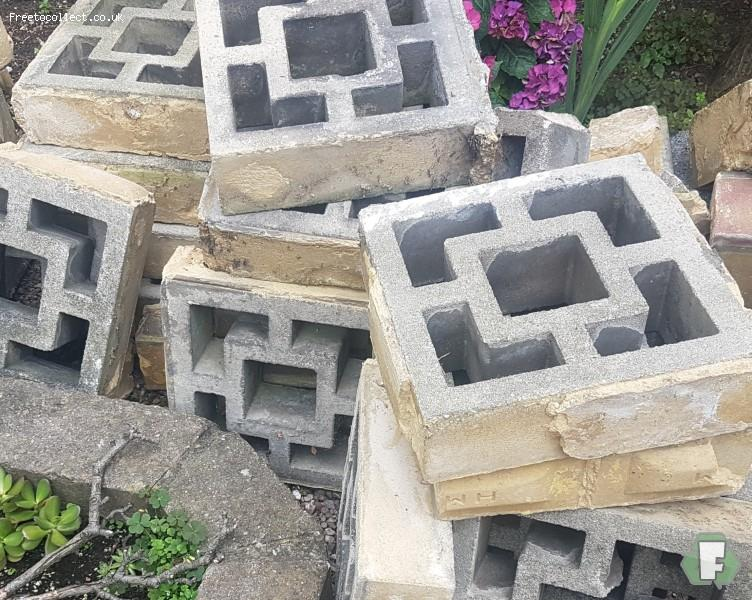 Garden decorative blocks  at www.freetocollect.co.uk